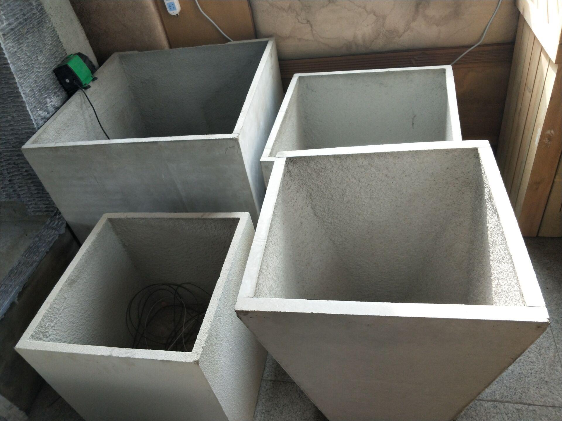 大连水泥花箱组合