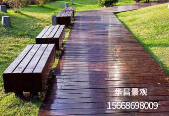 防腐木地板铺设