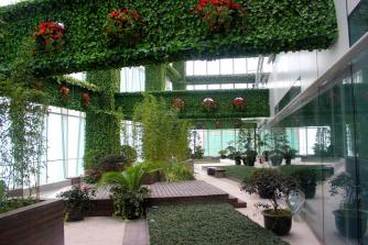 展厅绿篱装饰