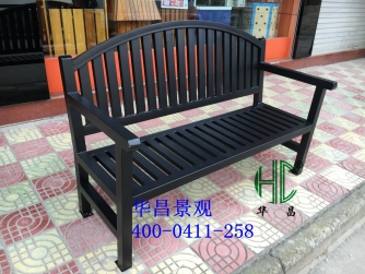 新款黑色公园椅